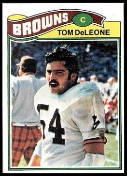 Tom DeLeone 1977 Topps football card