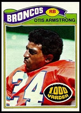 Otis Armstrong 1977 Topps football card