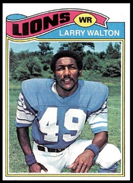 Larry Walton 1977 Topps football card
