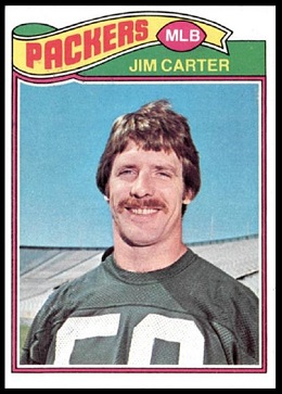 Jim Carter 1977 Topps football card