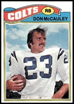 Don McCauley 1977 Topps football card