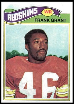 Frank Grant 1977 Topps football card