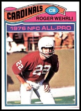 Roger Wehrli 1977 Topps football card