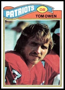 Tom Owen 1977 Topps football card