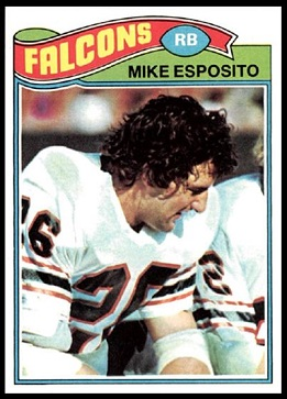 Mike Esposito 1977 Topps football card