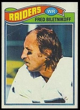 Fred Biletnikoff 1977 Topps football card