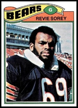 Revie Sorey 1977 Topps football card