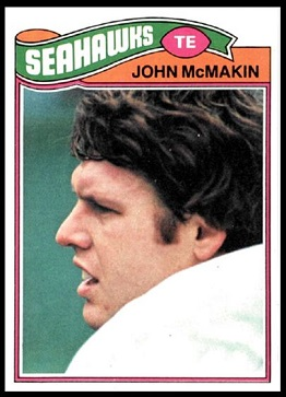 John McMakin 1977 Topps football card
