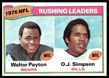 Rushing Leaders 1977 Topps football card