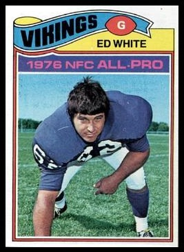 Ed White 1977 Topps football card