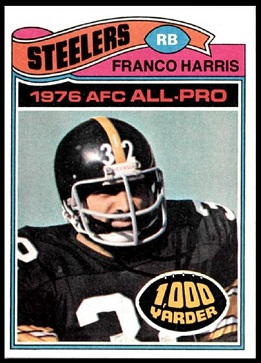 Franco Harris 1977 Topps football card