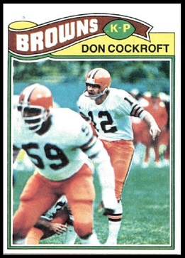Don Cockroft 1977 Topps football card