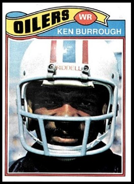 Ken Burrough 1977 Topps football card