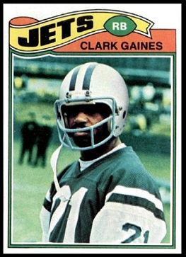 Clark Gaines 1977 Topps football card