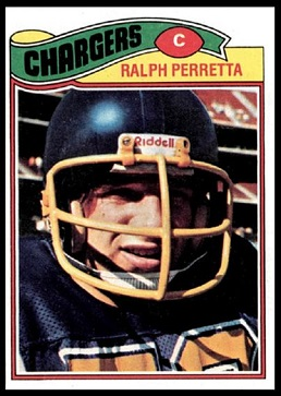 Ralph Perretta 1977 Topps football card