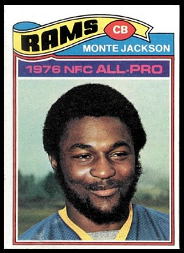 Monte Jackson 1977 Topps football card