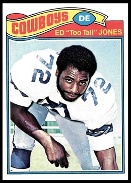 Ed Jones 1977 Topps football card