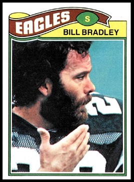Bill Bradley 1977 Topps football card