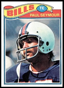 Paul Seymour 1977 Topps football card