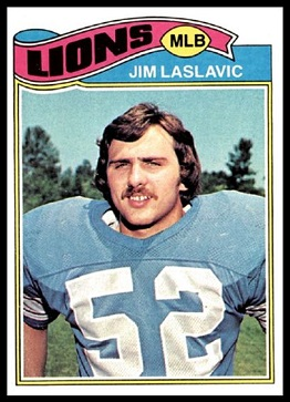 Jim Laslavic 1977 Topps football card