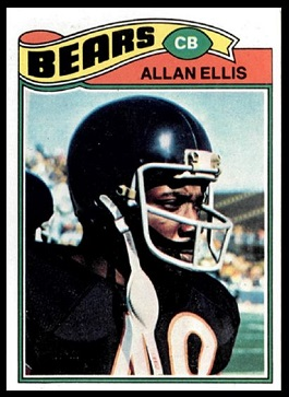 Allan Ellis 1977 Topps football card