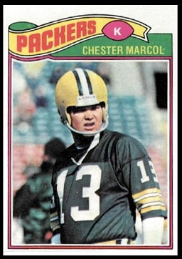 Chester Marcol 1977 Topps football card