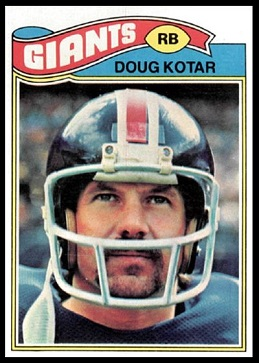 Doug Kotar 1977 Topps football card