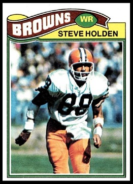 Steve Holden 1977 Topps football card