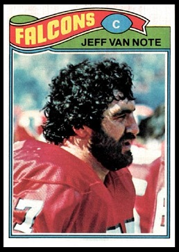 Jeff Van Note 1977 Topps football card
