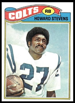 Howard Stevens 1977 Topps football card