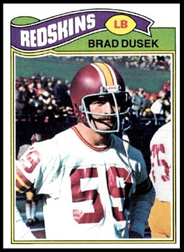Brad Dusek 1977 Topps football card
