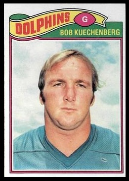 Bob Kuechenberg 1977 Topps football card
