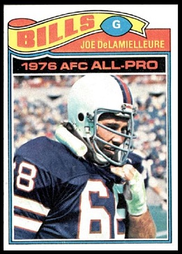 Joe DeLamielleure 1977 Topps football card