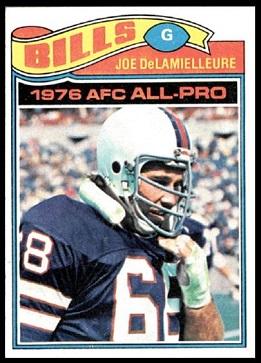 Joe DeLamielleure 1977 Topps football card