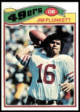 Jim Plunkett 1977 Topps football card