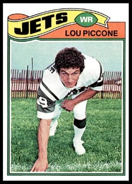 Lou Piccone 1977 Topps football card