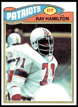 Ray Hamilton 1977 Topps football card