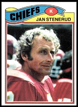 Jan Stenerud 1977 Topps football card
