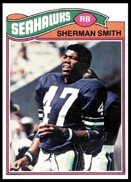 Sherman Smith 1977 Topps football card