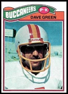 Dave Green 1977 Topps football card