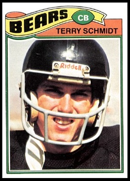 Terry Schmidt 1977 Topps football card