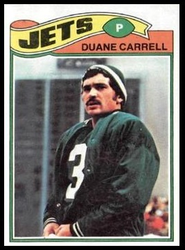 Duane Carrell 1977 Topps football card