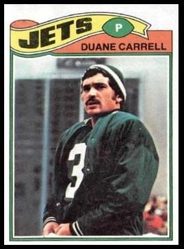 Duane Carrell 1977 Topps football card