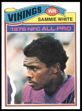 Sammy White 1977 Topps football card