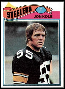 Jon Kolb 1977 Topps football card