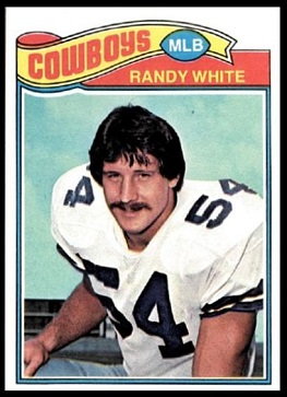 Randy White 1977 Topps football card