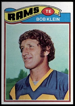 Bob Klein 1977 Topps football card