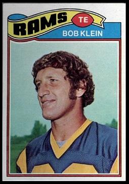 Bob Klein 1977 Topps football card