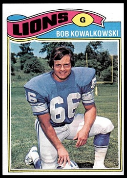 Bob Kowalkowski 1977 Topps football card
