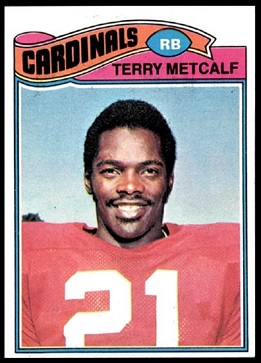 Terry Metcalf 1977 Topps football card
